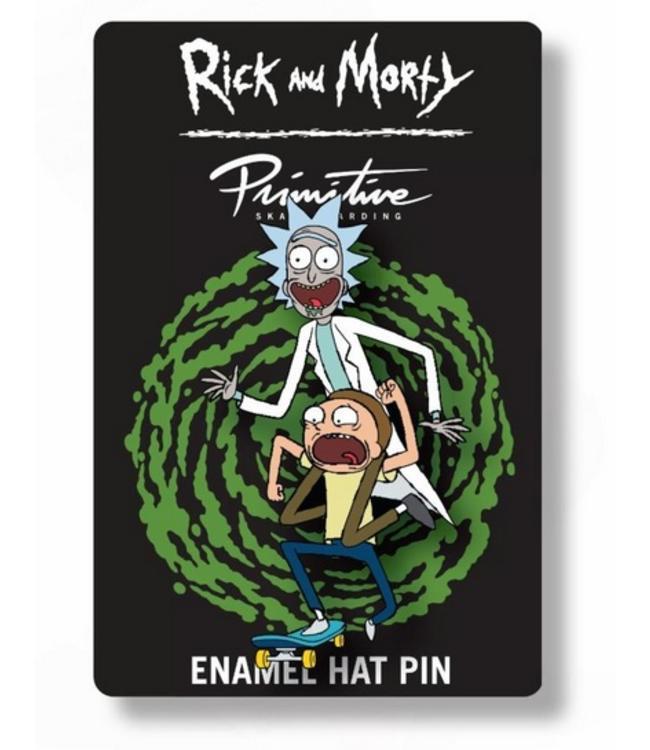 Primitive Skateboards Rick and Morty Skate Enamel Pin
