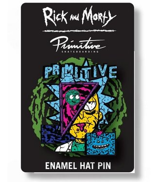 Primitive Skateboards Rick and Morty Deconstructed Rick Enamel Pin
