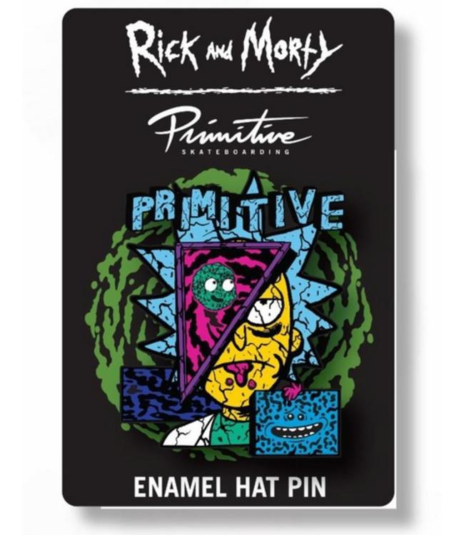 Primitive Skateboards Rick and Morty Deconstructed Rick Enamel Pin