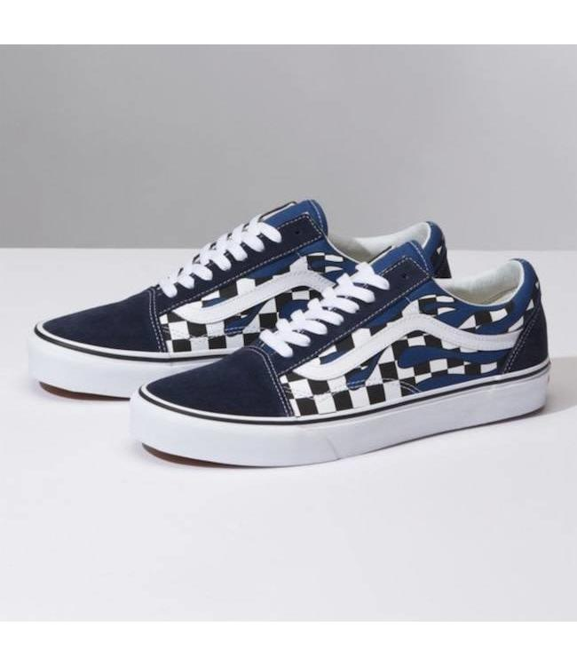 bbde2e8b2d7 Vans Checker Flame Navy Old Skool Shoe - Drift House Surf Shop