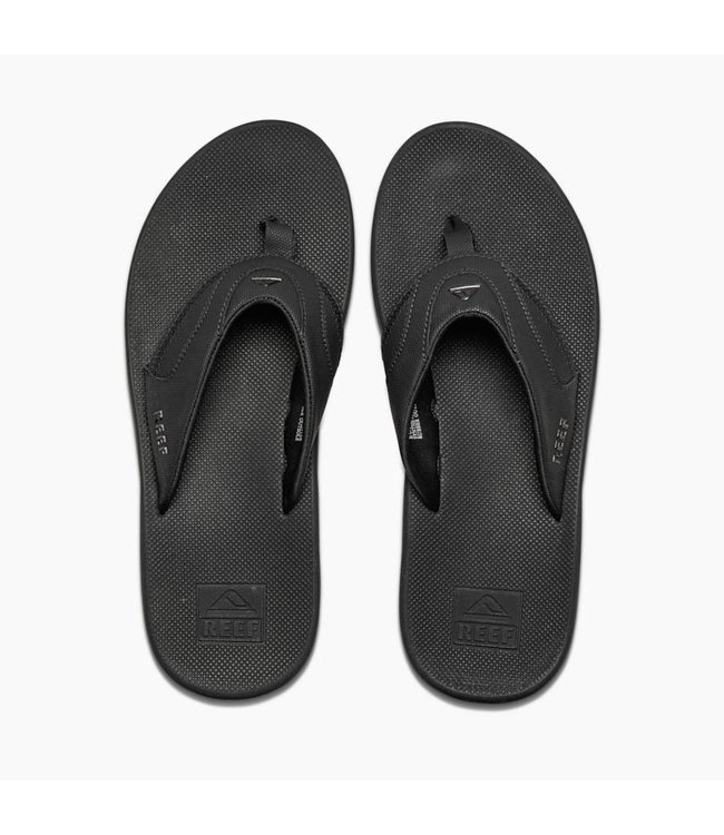 5ff734c4afc4 Reef Men s Fanning All Black Sandals - Drift House Surf Shop