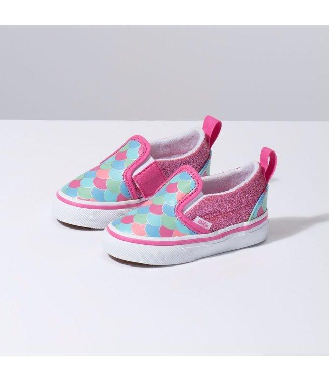 b907b6c180efd6 Vans Toddler Mermaid Scales Slip On Velcro Shoes - Drift House Surf Shop