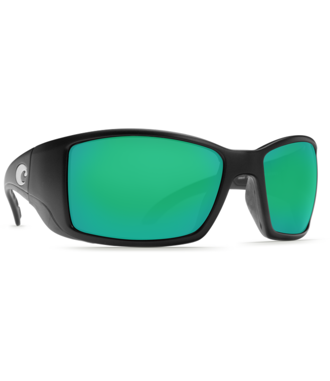c07ab0b46b Costa Del Mar Blackfin Matte Black Green Mirror 580P Sunglasses ...