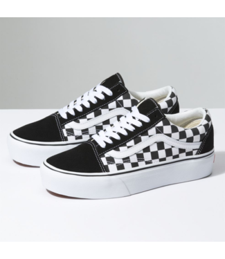 Vans Old Skool Platform Checkerboard Skate Shoe