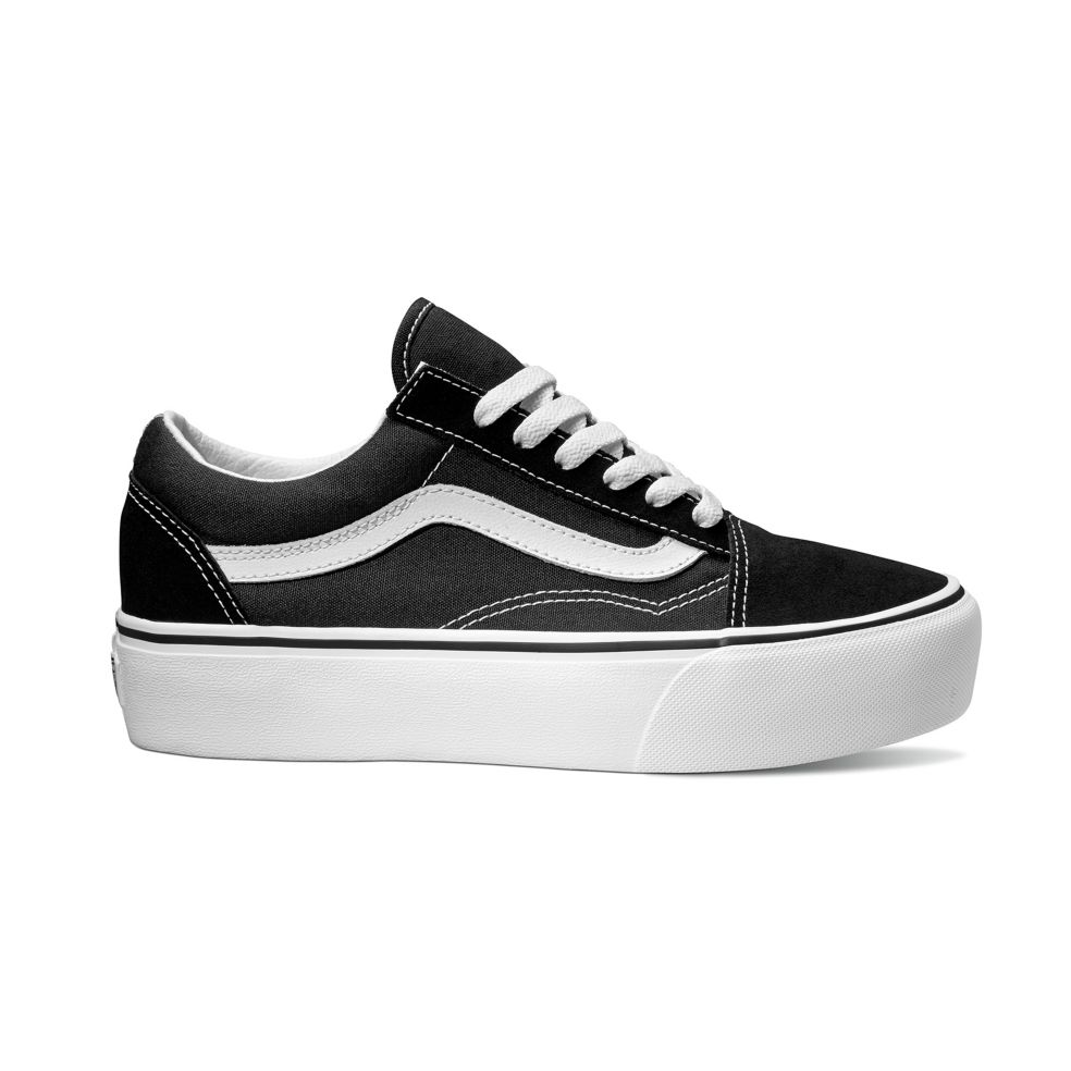 Vans Old Skool Platform Black/ White Skate Shoe