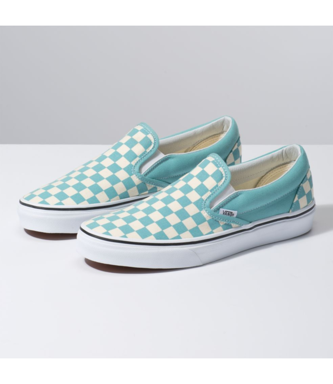 badcb7fc53271 Classic Slip-On Checkerboard Aqua Haze Skate Shoe