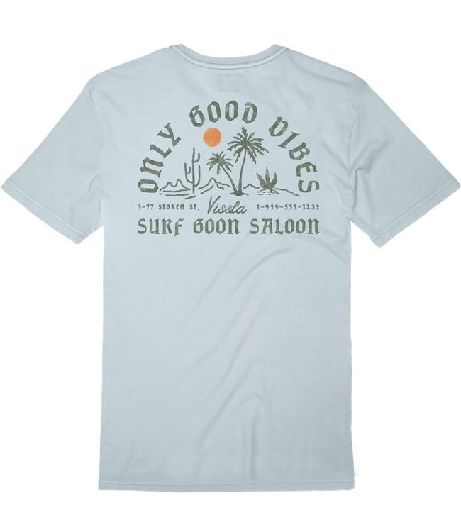 VISSLA Good Vibes Pigment Dyed Pocket Tee