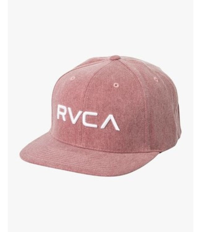 e9e88524 RVCA Twill Rustic Red Snapback Hat - Drift House Surf Shop