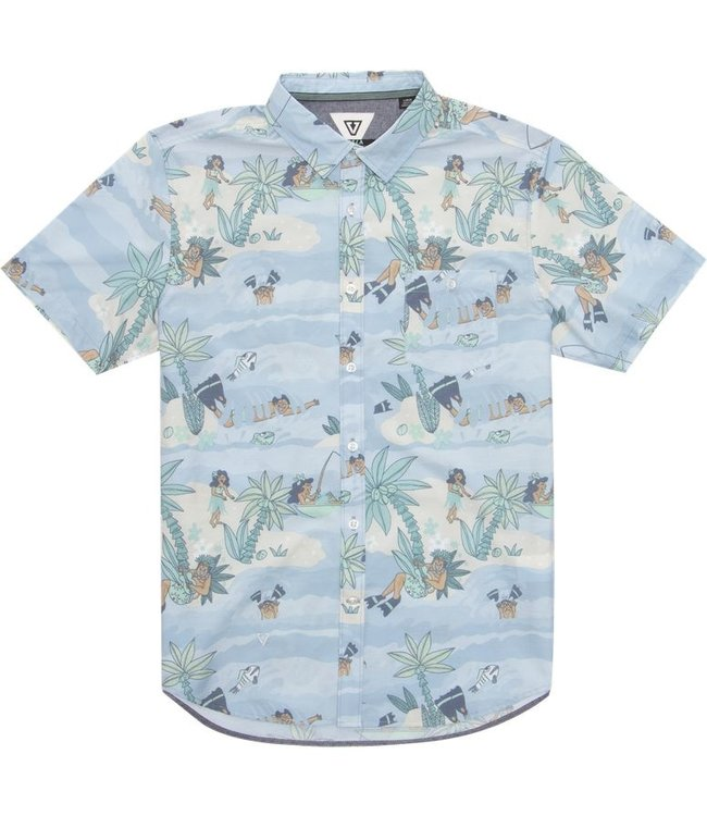 VISSLA Da Fin Point Panic Short Sleeve Woven Shirt