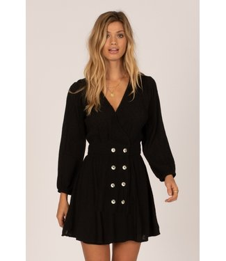 Amuse Society Georgie Long Sleeve Woven Dress