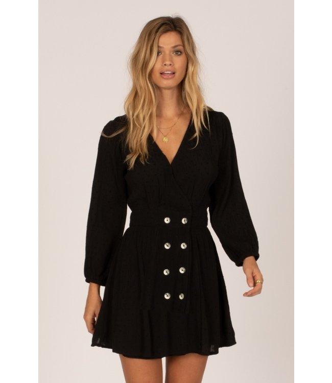 Amuse Society Georgie Long Sleeve Woven Dress