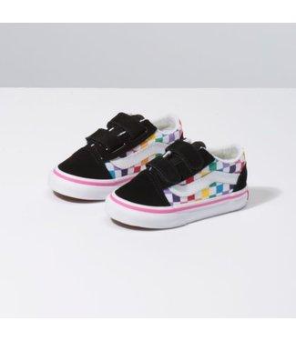 Vans Toddler Old Skool Velcro Rainbow Shoes