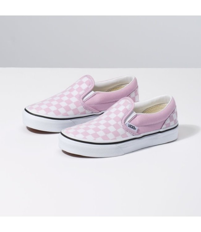 411947c6fcf Vans Kids Slip On Lilac Snow Checkerboard Shoes - Drift House Surf Shop