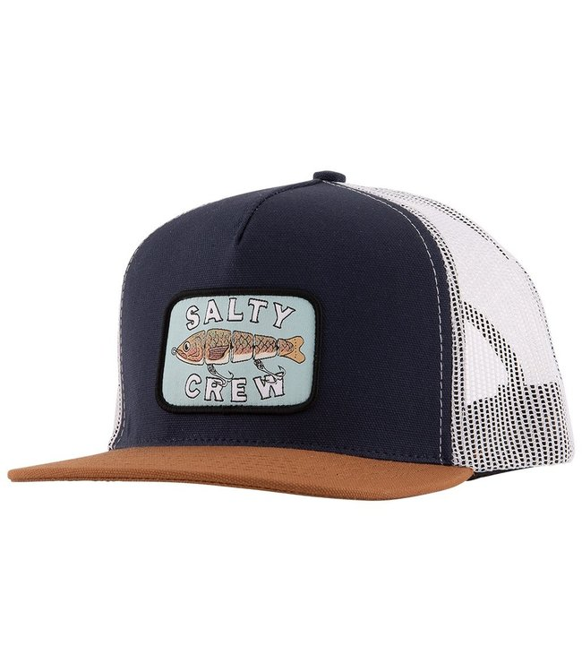 online store 01276 799f2 Salty Crew Paddle Tail Navy Trucker Hat