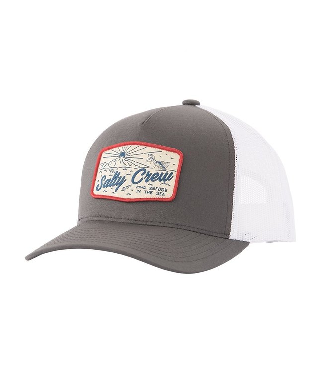 low priced 2f637 b428f Salty Crew Frenzy Retro Dark Grey Trucker Hat