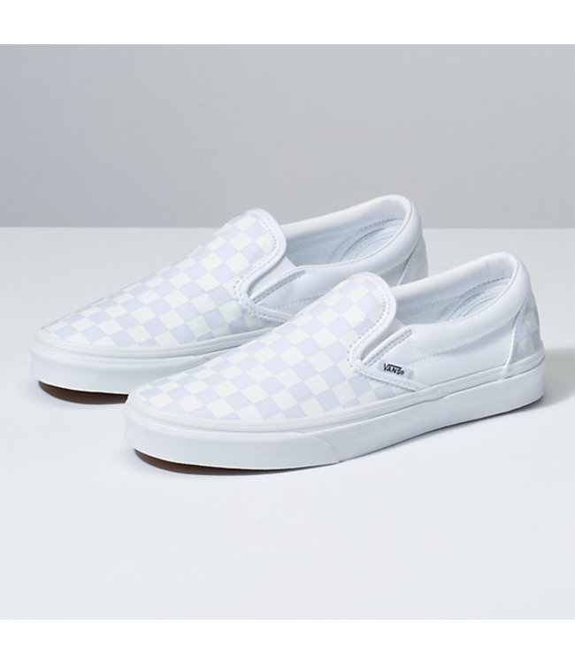Slip On True White Checkerboard Shoes
