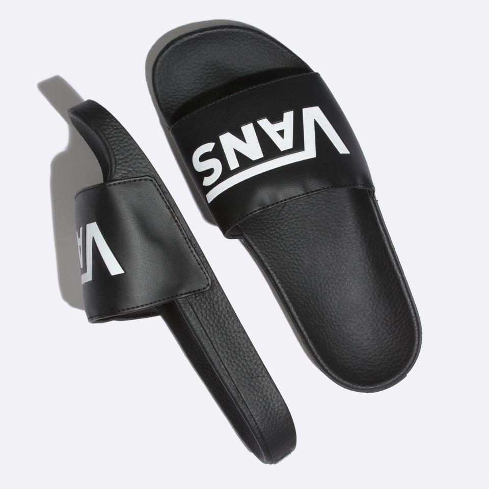 vans slide on black