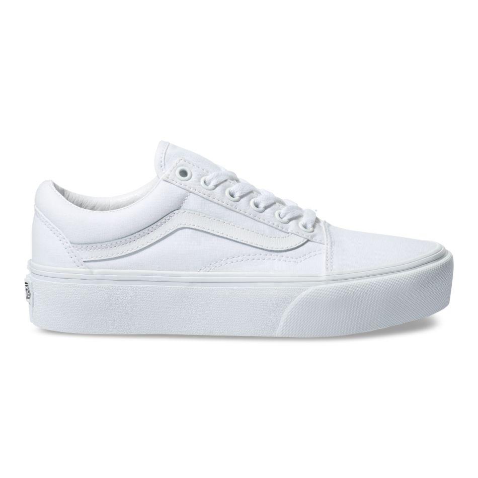 Vans Old Skool Platform True White Shoes