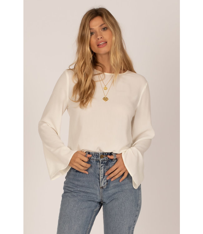 Amuse Society Bellini Long Sleeve Woven Top