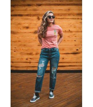 Drift House Women's Pineapple Mauve T-Shirt