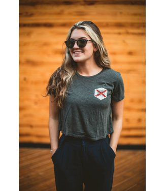 Drift House Women's Florida Flag Cropped T-Shirt
