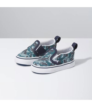 Vans Toddlers Animal Camo Slip-On V Shoes