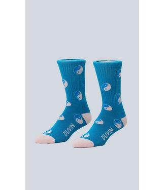 Duvin Design Co. Yin Yang Teal Sock