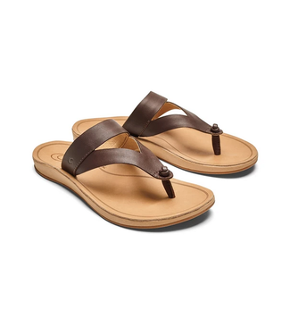 Olukai Kaekae Ko'o Leather Sandals