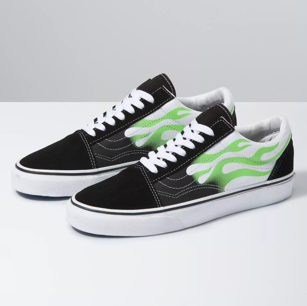 buy \u003e green flame vans, Up to 78% OFF