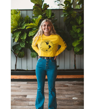Vans National Geographic Crop Long Sleeve Shirt