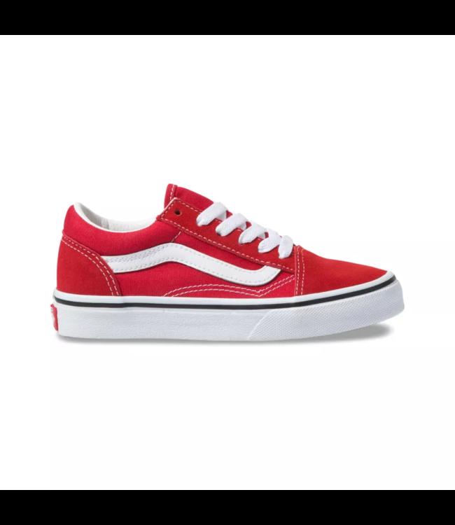 Vans Old Skool Racing Red Kids Shoes