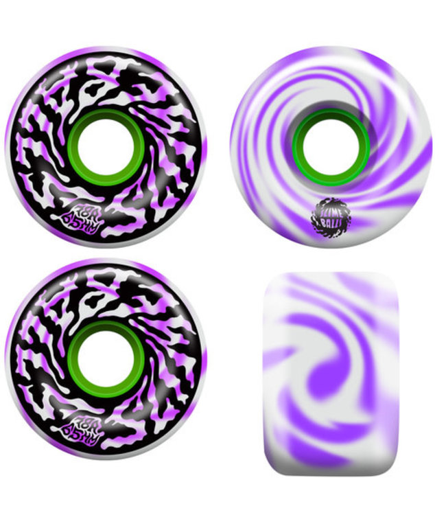 Santa Cruz Skateboards 65mm Slimeball Swirly Wheels