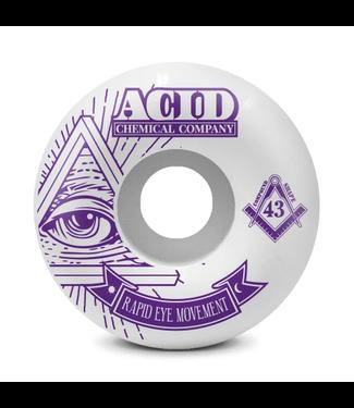 Acid Chemical Co. 57mm REM 101a Pyramid Wheels