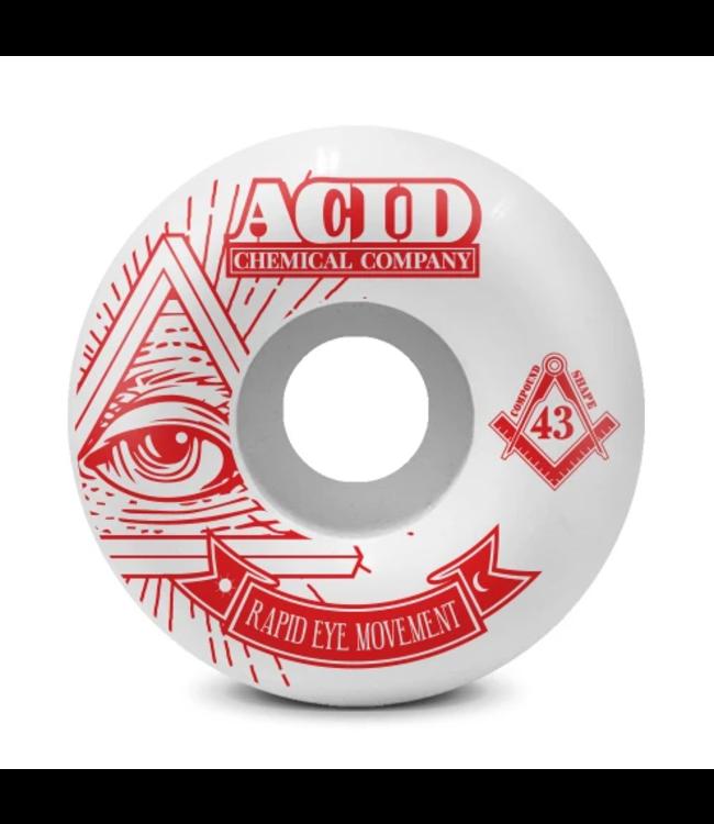 Acid Chemical Co. 53mm REM 99a Pyramid Wheels