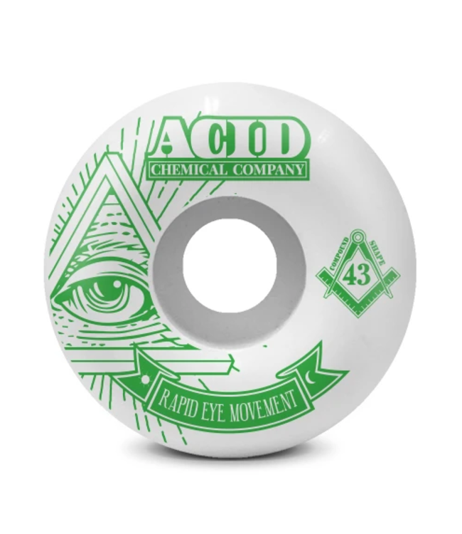Acid Chemical Co. 56mm REM 101a Pyramid Wheels