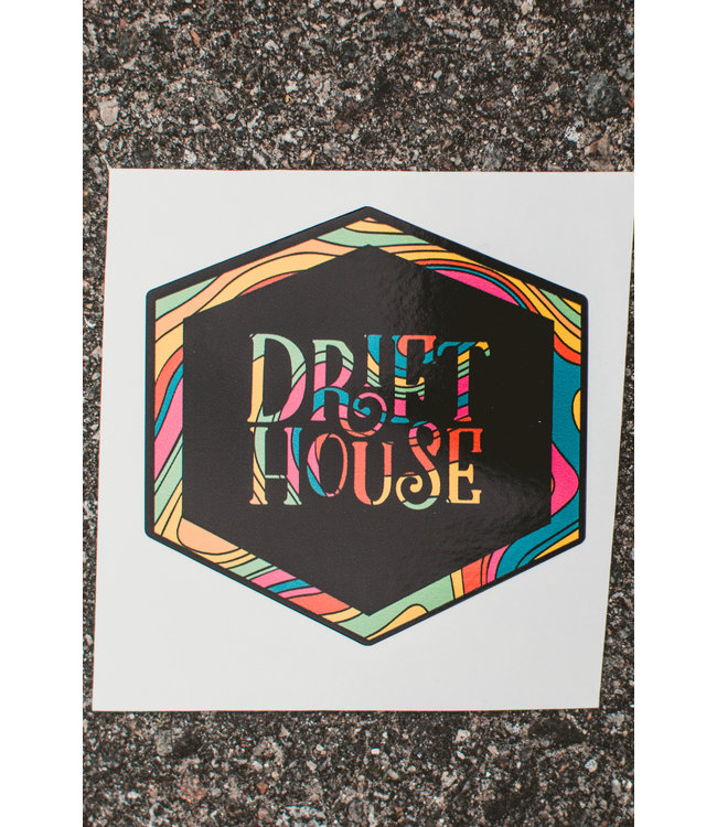 Drift House Trippy Logo Sticker
