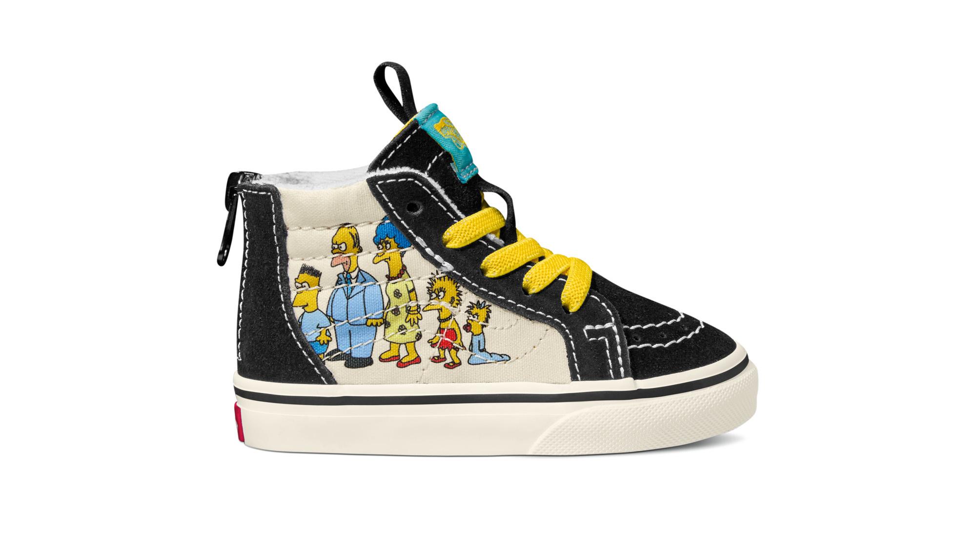 Vans Toddlers Simpsons Sk8-Hi Zip 1987