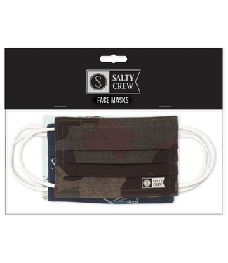 Salty Crew Youth Face Mask 3 Pack