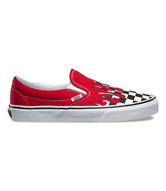 Vans Checkerboard Flame Slip-On Shoes