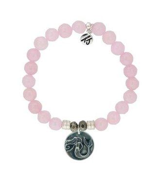 Mermaid Charm Rose Quartz Bracelet