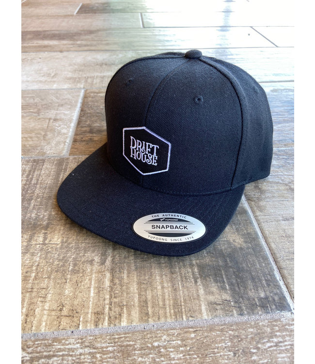 Drift House Logo 6 Panel Flat Bill Hat