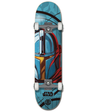 "Element Skateboards 7.75"" Star Wars Mandalorian Complete"