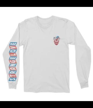 StrangeLove Skateboards Heart Skull Long Sleeve Logo T-Shirt