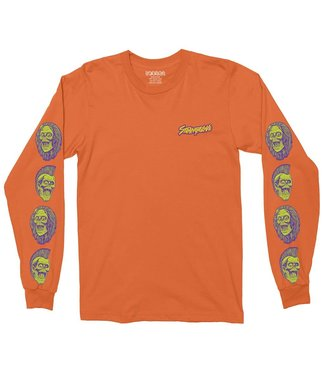 StrangeLove Skateboards Ghoul Blaze Orange Long Sleeve T-Shirt