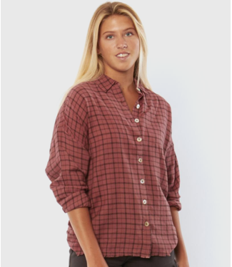 Sisstrevolution Shorebreak Long Sleeve Woven Blouse