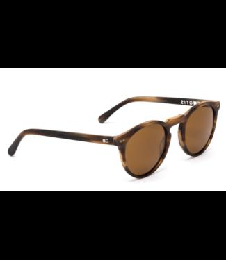 Otis Eyewear Omar Eco Horn Wood Polar Sunglasses