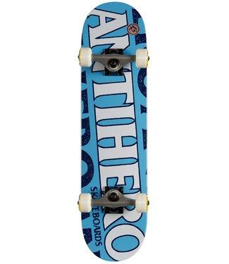 """Anti Hero Skateboards 7.38"""" Black Hero Complete Skateboard"""