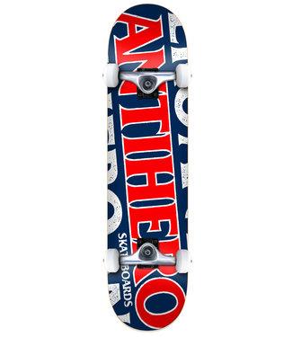 """Anti Hero Skateboards 8.25"""" Black Hero Complete Skateboard"""