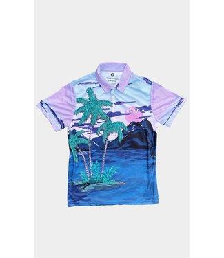 Duvin Design Co. Palm Sunrise Polo Shirt