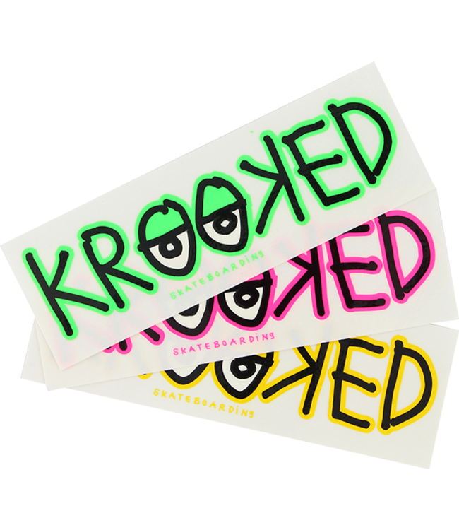 Krooked Skateboards Eyes Decal Sticker